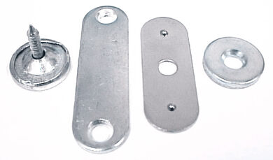 Counter plates for magnetic latches